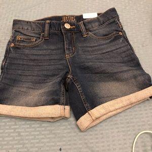 Girls cuffed jean shorts